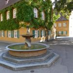 Fuggerei fountain in Augsburg