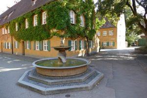 Fuggerei fountain in Augsburg