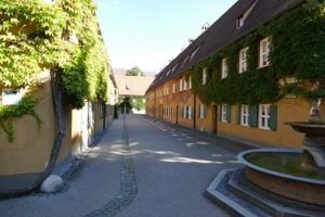 Street in Fuggerei, Augsburg